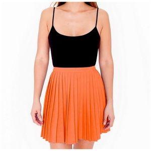 AMERICAN APPAREL Crepe Pleated Tennis Skirt